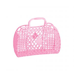 Sun Jellies Retro Basket Small Bubblegum Pink