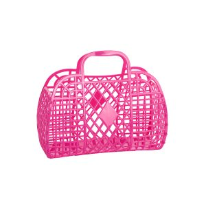 Sun Jellies Retro Basket Small Hot Pink