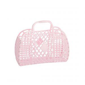 Sun Jellies Retro Basket Small Pink